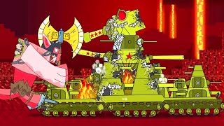 Giant pig VS the tank. World of tanks in Minecraft. Monster Truck Cartoon. Cartoon about battle