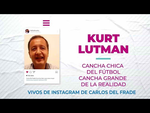 Carlos Del Frade con Kurt Lutman  sobre la cancha chica del fútbol y la cancha grande de la realidad
