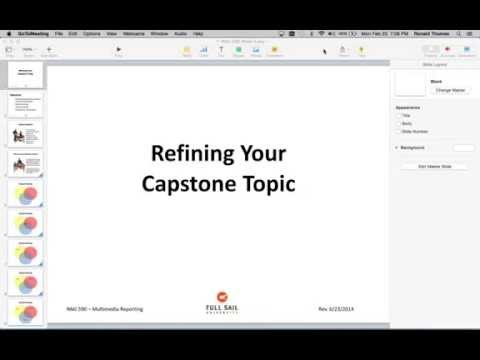 Refining your Capstone Topic