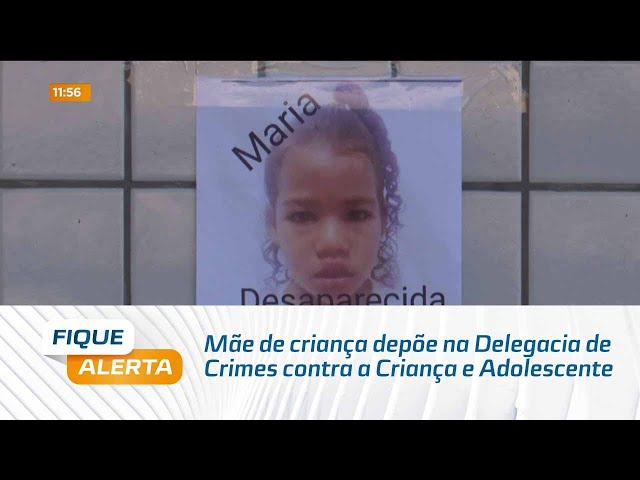 Caso Maria Clara: Mãe depõe na Delegacia de Crimes contra a Criança e Adolescente, na Jatiúca