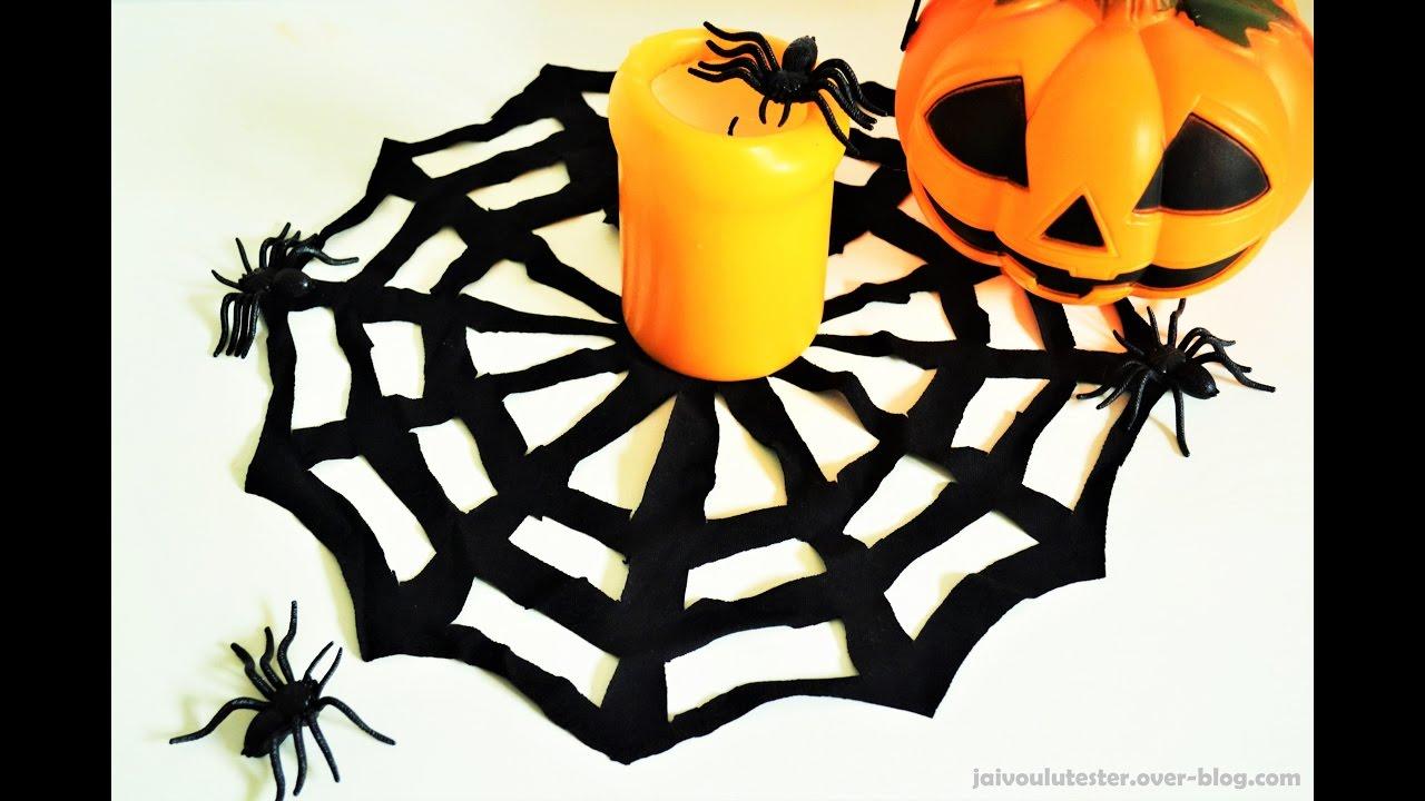 toile d 39 araign e d co halloween youtube. Black Bedroom Furniture Sets. Home Design Ideas