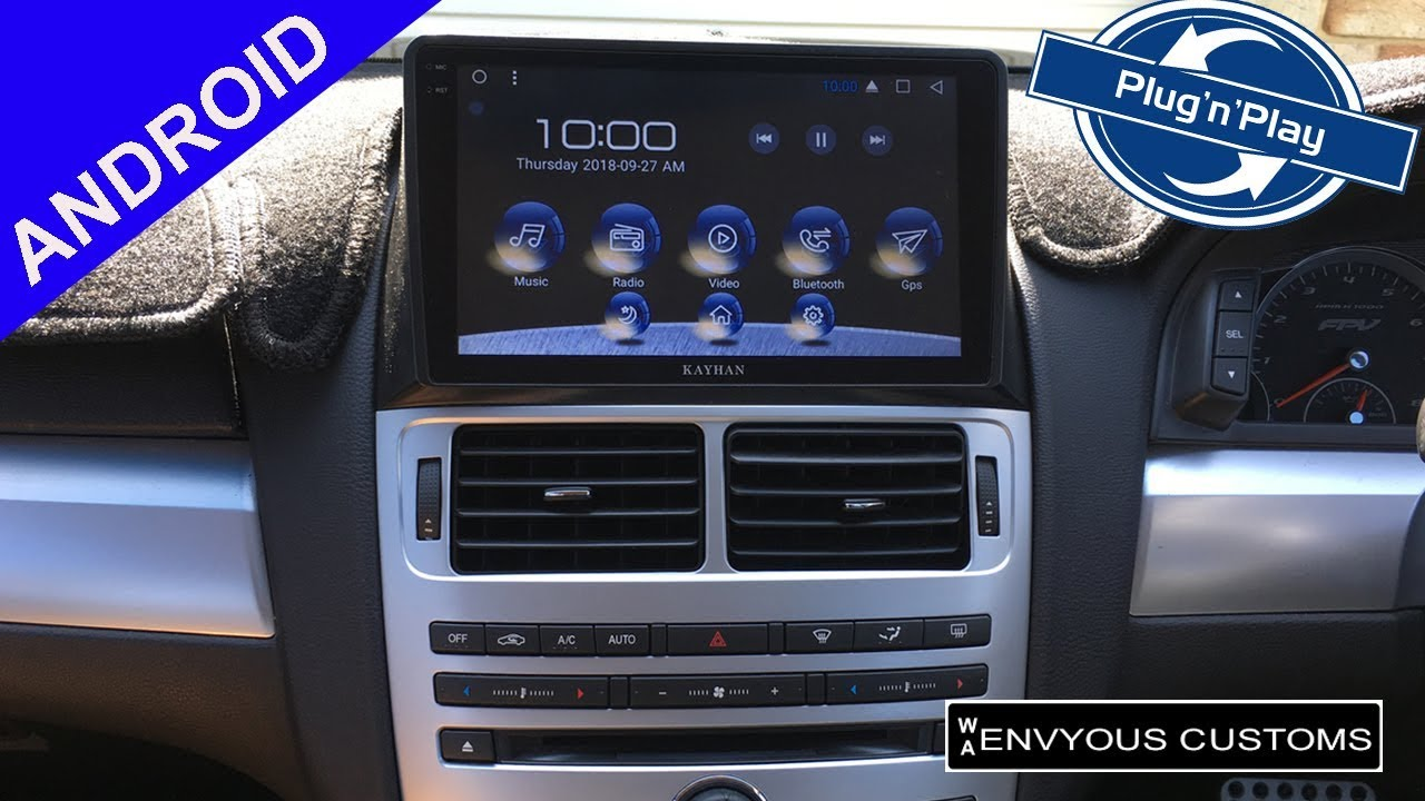 Ford FG Android ICC Radio Upgrade with Touchscreen Navigation to suit FG  MK1 MK2 and Territory SZ