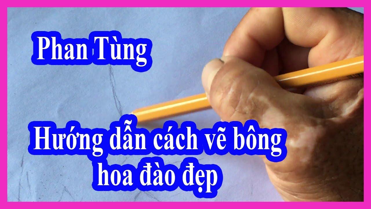 Hướng dẫn cách vẽ bông hoa đào đẹp #phantung83