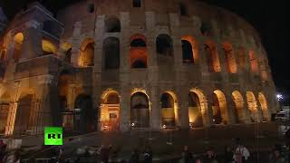 Pope Francis leads Way of the Cross (Via Crucis) at the Colosseum on Good Friday