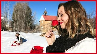 BABY NAME REVEAL WITH ROSES IN SNOW!