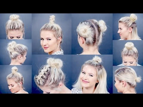 10 EASY Different Bun Hairstyles For Short Hair