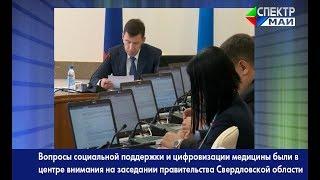 Социальная поддержка и цифровизация медицины - в центре внимания правительства Свердловской области