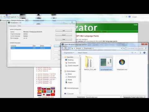Windows 7 Sprache ändern