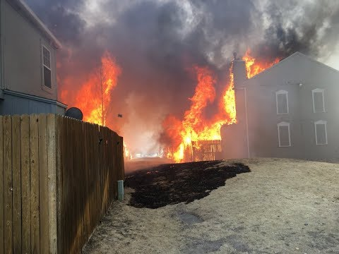 Three-alarm fire damages multiple townhomes in southeast Colorado Springs