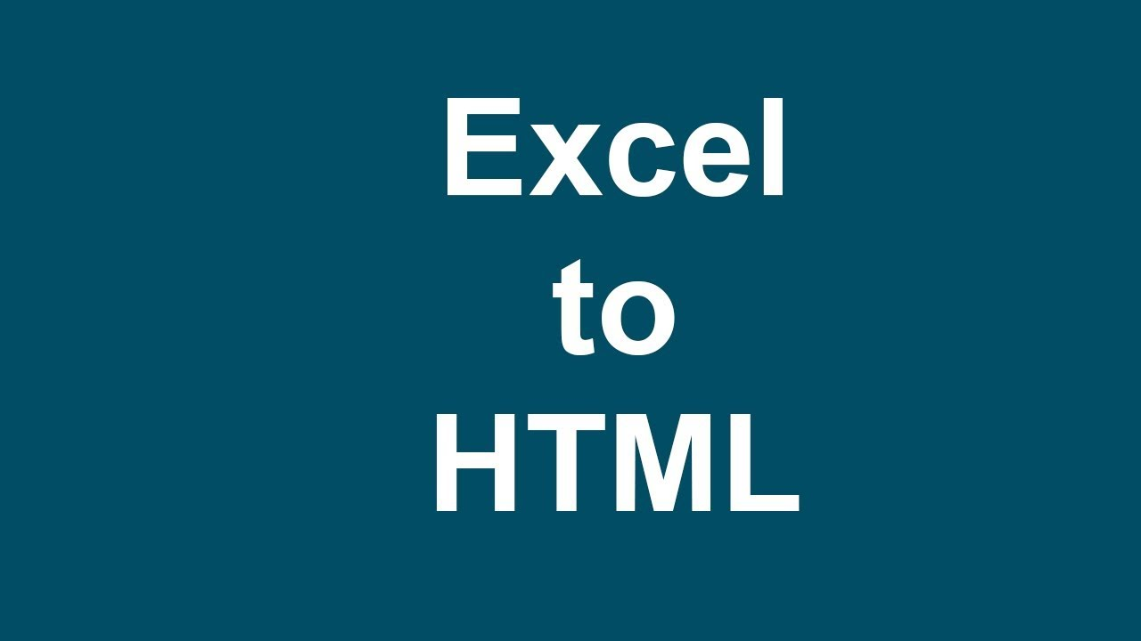 How to Convert Excel File to HTML Web File in Microsoft Excel 2017