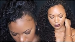 Blending Natural Hair with Brazilian Curly Weave (HerHair Company)