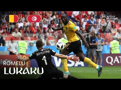 Romelu LUKAKU Goal 1 - Belgium v Tunisia - MATCH 29