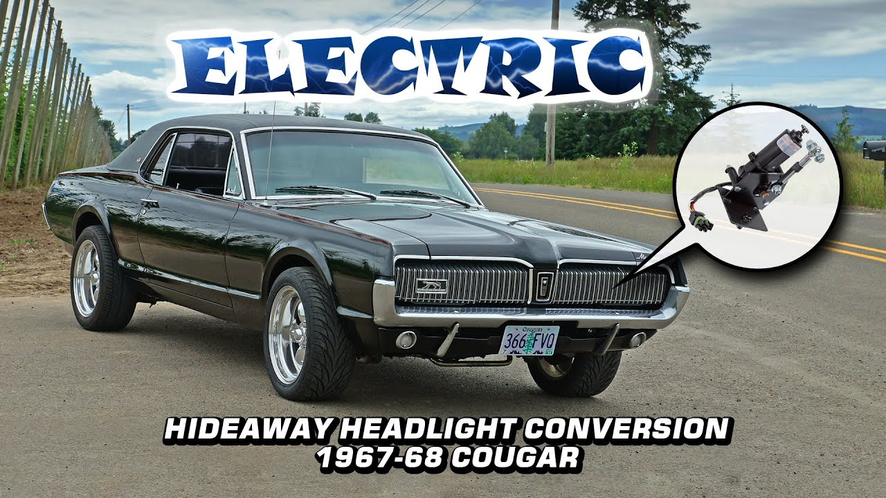 hight resolution of electric hideaway headlight actuator conversion 1967 1968 mercury wiring diagrams for 67 cougar xr 7