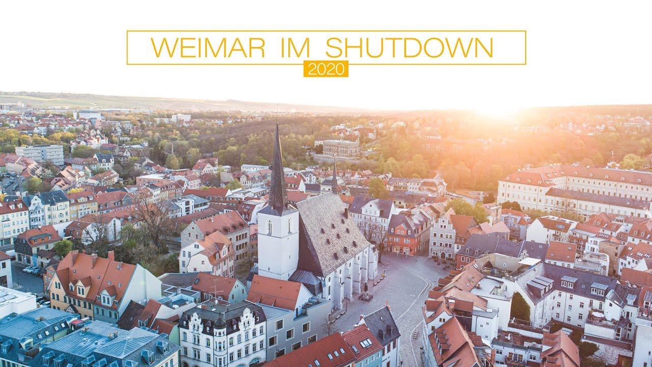 Weimar von oben, bewegungslos