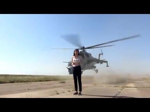 VÍDEO: Una periodista, a punto de morir decapitada por un helicóptero