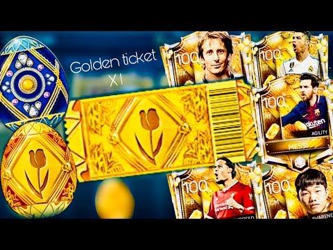 GOLDEN TICKET ! 100 OVR GOLDEN MASTERS IN FIFA MOBILE HUNT - I opened Easter Golden Egg packs