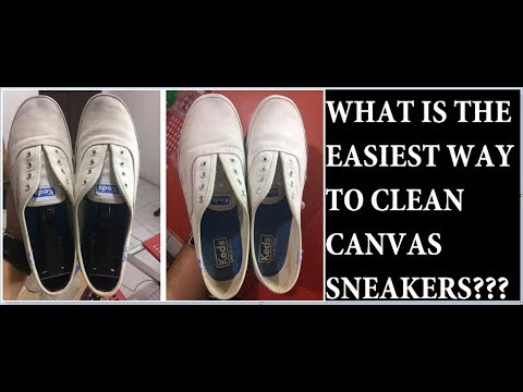 HOW TO CLEAN WHITE CANVAS SNEAKERS EASY!