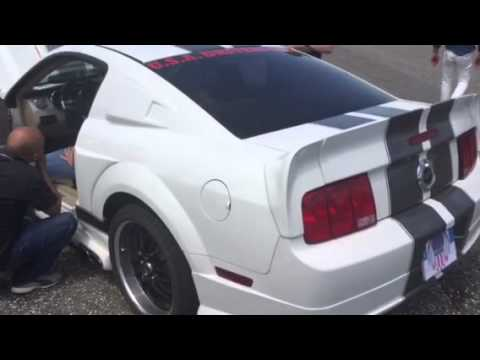 Marco zanni Ford mustang v8 sound VALLELUNGA - YouTube