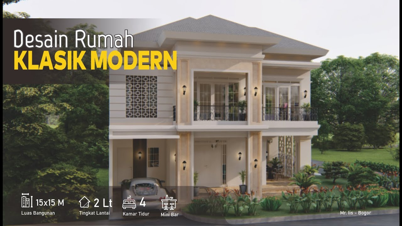 Desain Rumah 15x15 meter 2 Lantai Balkon Dengan Permukaan ...