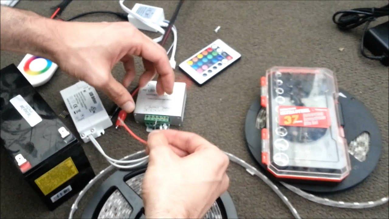 LED Strip & RGB Controller Installation Guide DIY Help  YouTube