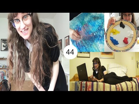 No boobs in this vlog, Painting minions and cleaning | Berlin Vlog 44 | HiLesley-Ann