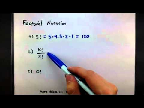 how to solve factorial problems