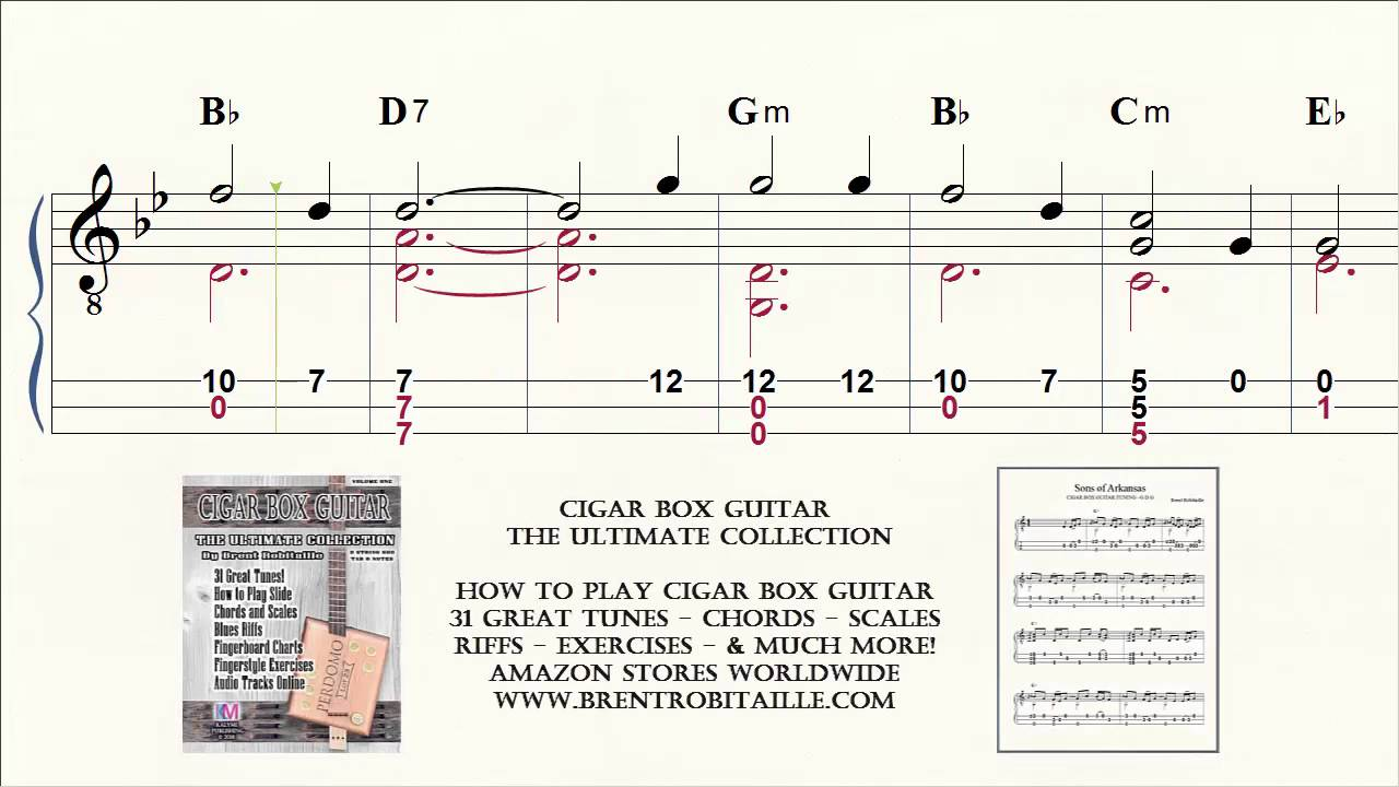 Cigar Box Guitar Tab Notes Chords House Of The Rising Sun