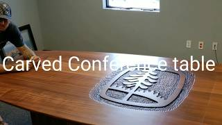 Carved Sapele Conference Table