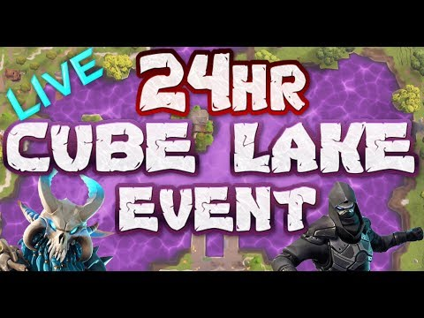 FORTNITE - 24HR CUBE WATCH LIVE - CUBE IS IN TILTED TOWERS NOW - LOOT LAKE EVENT LIVE COUNTDOWN