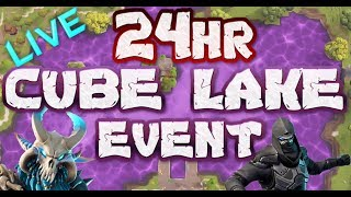 FORTNITE - 24HR CUBE EVENT LIVE - LOOT LAKE EVENT ACTIVATING SOON LIVE COUNTDOWN - TRACKING THE CUBE
