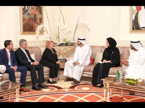 حمدان بن محمد بن راشد يستقبل رئيسة مالطا