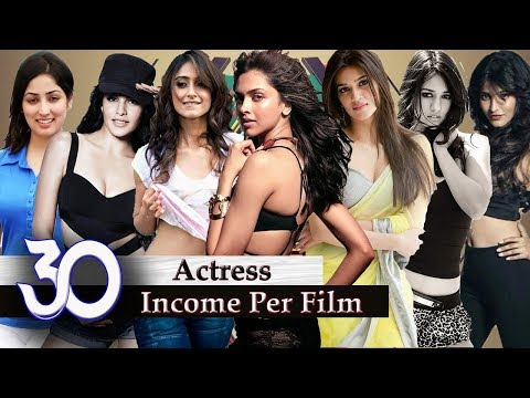 Bollywood Actress Salary - 30 Bollywood Actress Income Per Film | Highest Paid Bollywood Actresses |