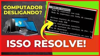 Como resolver erro, computador desligando sozinho no windows 7/8/8.1