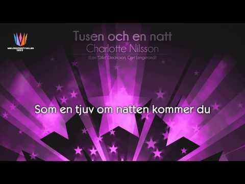 """[1999] Charlotte Nilsson - """"Tusen och en natt"""" [Unofficial Karaoke version]"""