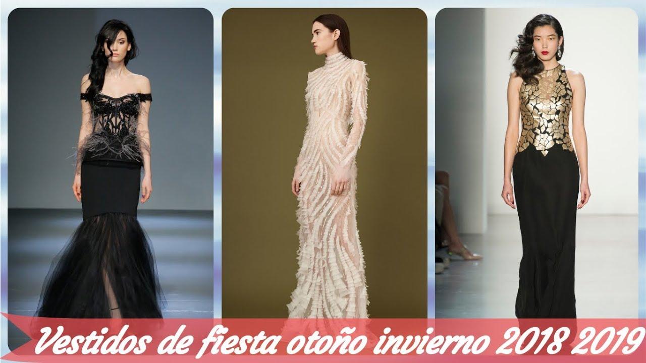 Top 30 Modelos De Vestidos De Fiesta Otoño Invierno 2018 2019