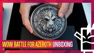 Unboxing World Of Warcraft Battle For Azeroth Press Kit Edition