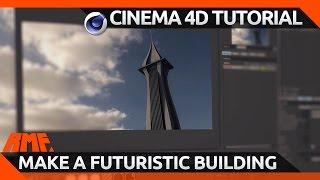 Cinema 4D Tutorial - Build a Futuristic Building