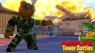 BRUNO DESTROYS A NOOB!!! - Roblox Tower Battles