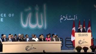 Canadian Prime Minister Harper speaks at Ahmadiyya Conference - Islam Ahmadiyya Croydon Mosque