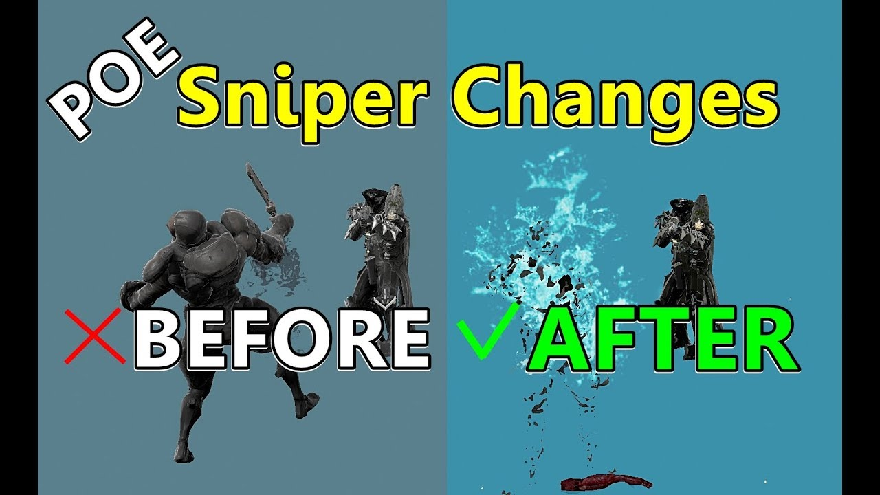 PoE Sniper Changes, BEFORE And AFTER! (Side-By-Side)