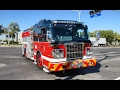 NEW   Montréal Fire Department (SIM) - Quick Catches of Brand-New Pumpers 261 & 262 Driving By