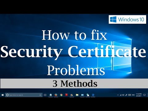 How to fix Security Certificate errors on Websites  in Windows 10 [3 Simple Methods]