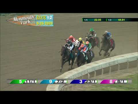 video thumbnail for MONMOUTH PARK 09-26-20 RACE 12