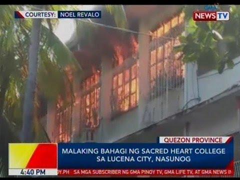 BP: Malaking bahagi ng Sacred Heart College sa Lucena City, nasunog