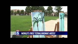 Concetta Antico Tetrachromat Art on KSWB TV