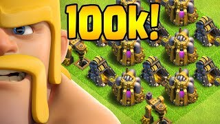 100k SUBS!  40 Walls to Go!  TH10 Farm to Max STREAM HIGHLIGHTS   Clash of Clans
