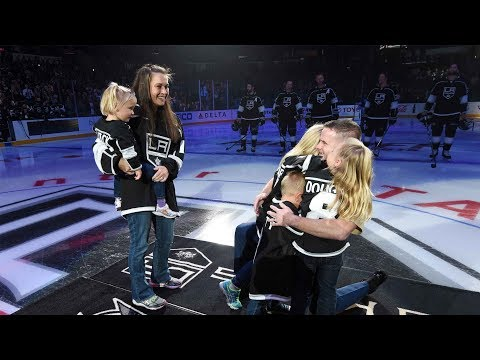 Surprise Military Homecoming at LA Kings Opening Night