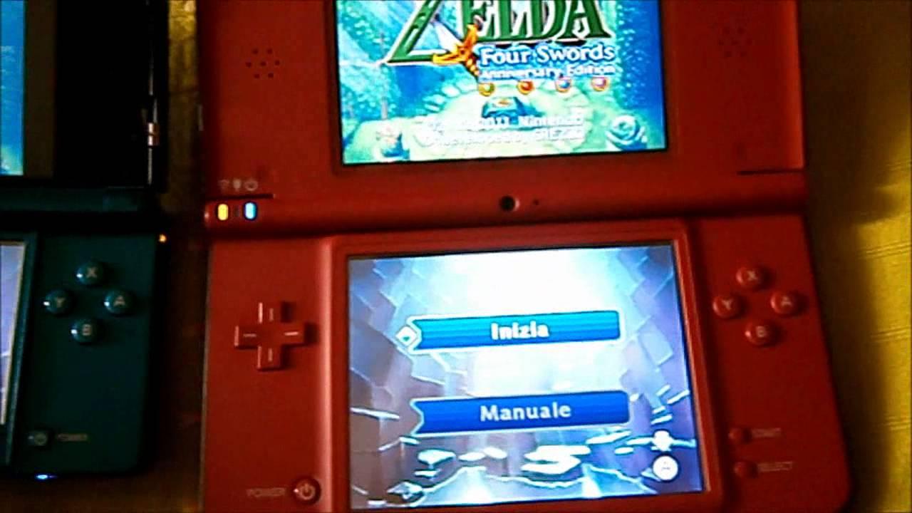 THE LEGEND OF ZELDA FOUR 4 SWORDS ANNIVERSARY EDITION DSI VS 3DS ...