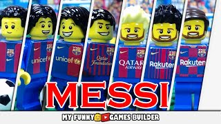 MESSI Evolution in LEGO  Barcelona from 2000 to 2020  Lionel Messi future..
