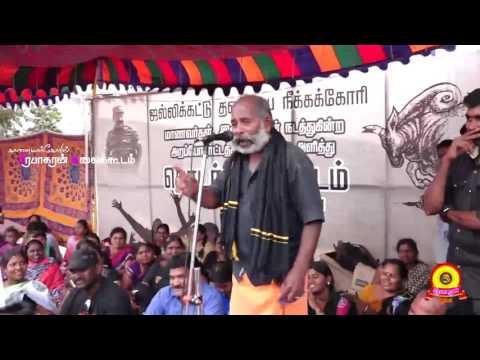 நாம்தமிழர் கட்சி கருப்பன் உரை : ஜல்லிக்கட்டு போராட்டம் - மதுரை தமுக்கம் |  Actor Karuppan Speech